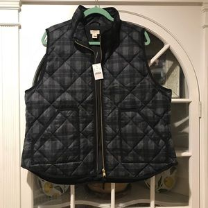 BRAND NEW / WITH TAGS Quilted Vest from J.Crew!
